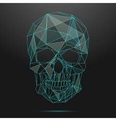Low poly skull Thin line skull vector image