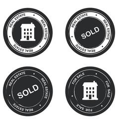 Set of real estate stamp vector image vector image