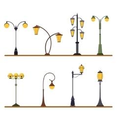 Street Lamp Post Set vector image