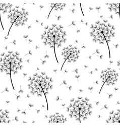 Background seamless pattern with dandelions vector image vector image