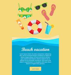 beach vacation banner vector image