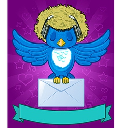 Bird with messages vector image vector image
