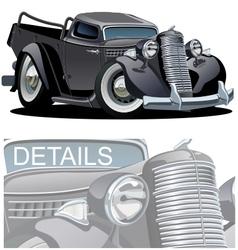 Cartoon Retro Pickup vector image vector image
