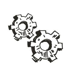 Gears Doodle vector image vector image