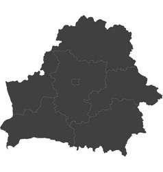 Map of belarus split into regions vector