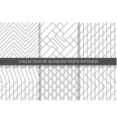 striped seamless geometric patterns vector image vector image