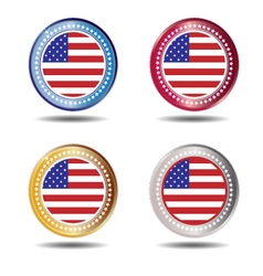 Banner flag American vector image