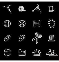 line sewing icon set vector image vector image