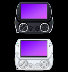 portable video game console vector image