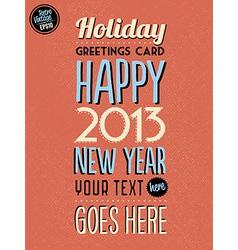 Retro Vintage Happy New Year Background vector image