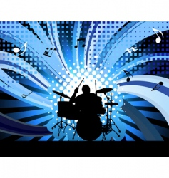 rock group drummer vector image vector image