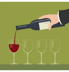 Serving wine vector image