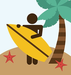 beach vacations vector image vector image