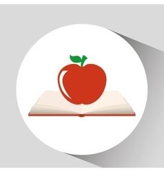 book open apple concept school graphic vector image