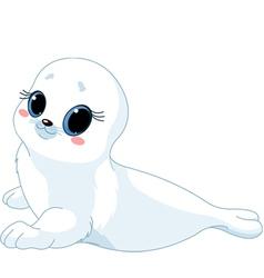 cartoon baby seal vector image