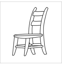 chair cartoon - line drawn vector image vector image