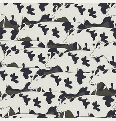 seamless pattern all cows vector image