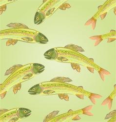 Seamless texture grayling salmon-predatory fish vector