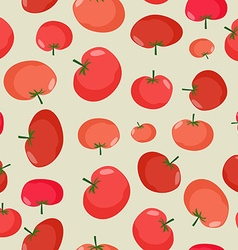 Tomato seamless pattern Vegetable background red vector image vector image