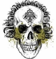 wicked skull illustration vector image vector image