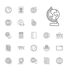 22 world icons vector image