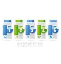 5 steps process infographics card design vector image