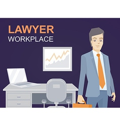 a portrait of a man in a jacket lawyer wi vector image