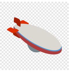 Aerostat isometric icon vector