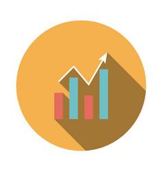 Analytics chart icon vector