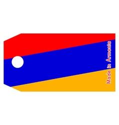 Armenia flag on price tag vector