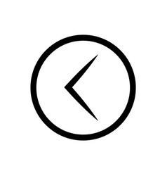 arrow left rounded icon vector image