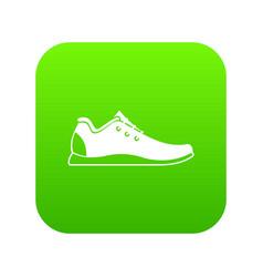 athletic shoe icon digital green vector image