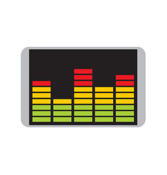 Audio equalizer spectrum bars chart graphic vector