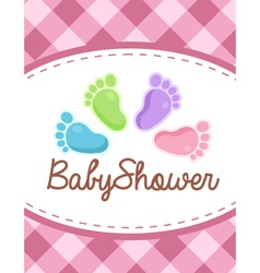 Baby Shower Colorful Feet vector image