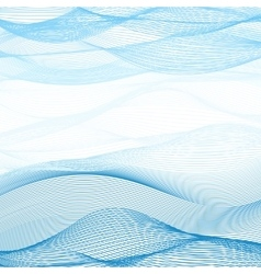 Background of blue-white ribbons intertwined vector image