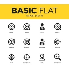 Basic set of Target icons vector image