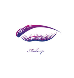 Beautiful eye with big lashes vector
