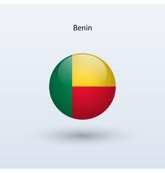 Benin round flag vector image