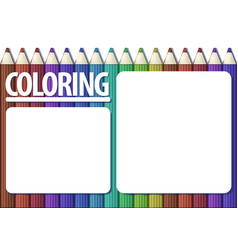 Blank template of coloring book page colour vector