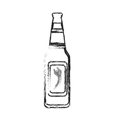 blurred silhouette image bottle glass of refresh vector image