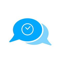 Bubble chat clock history message icon vector
