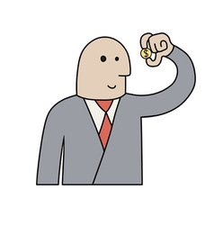 Businessman with coin vector image