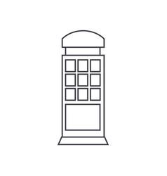 call box thin line icon concept call box linear vector image
