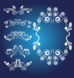 Calligraphic design elements 1 vector