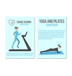 cardio training yoga and pilates banners vector image