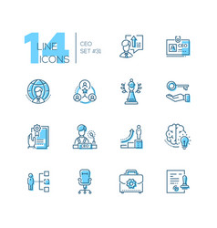 Ceo - set of line design style icons vector