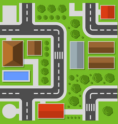 City top view town map seamless pattern vector