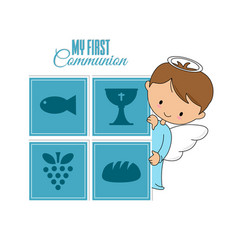 Communion or baptism card vector