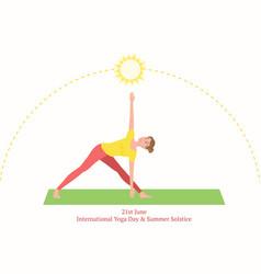 Concept 21st june international day yoga vector