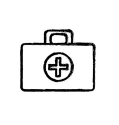 contour medical aid kit emergency care vector image